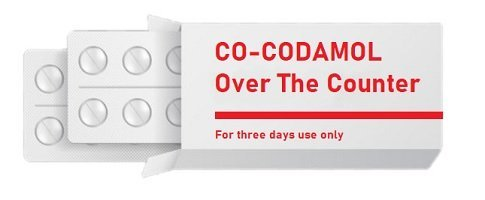 Co-Codamol over the counter contains paracetamol and codeine