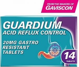 Guardium Acid Reflux Control contains esomeprazole 20mg