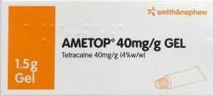 Skin Numbing gel Ametop contains tetracaine