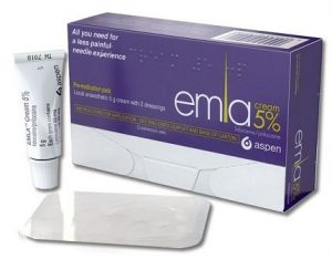 Numbing cream - Emla OTC pack with dressings