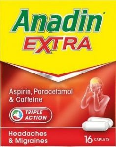Anadin Extra contains paracetamol and aspirin in a single product.