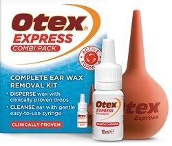 Otex Express Combi pack comes with bulb syringe to help to clean the ears additionally with water