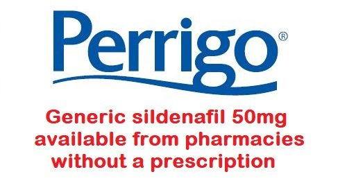 Generic sildenafil 50mg by Perrigo is available over the counter without a prescription