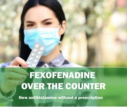 Allevia 120mg tablets - new fexofenadine over the counter