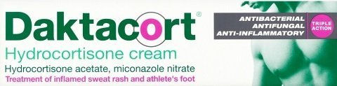 Daktacort - anti-itch, antifungal cream also contains steroid