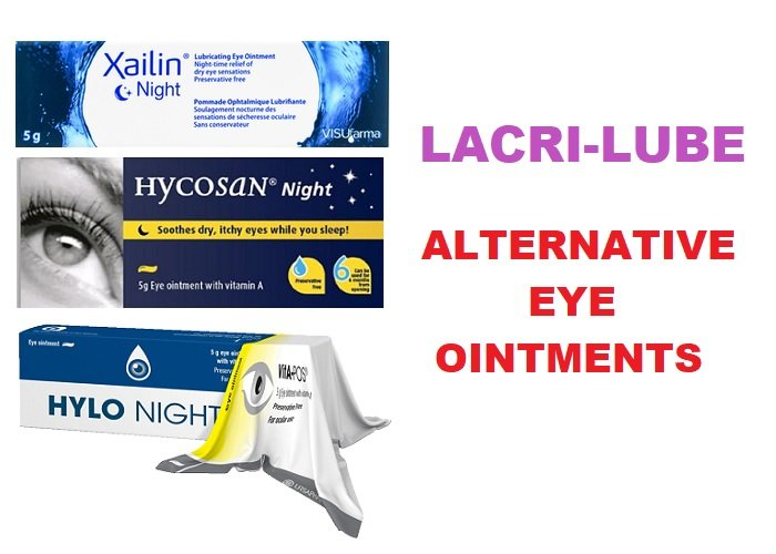 Lacri-Lube alternative eye ointments: Xailin Night, Hycosan Night & Hylo Night